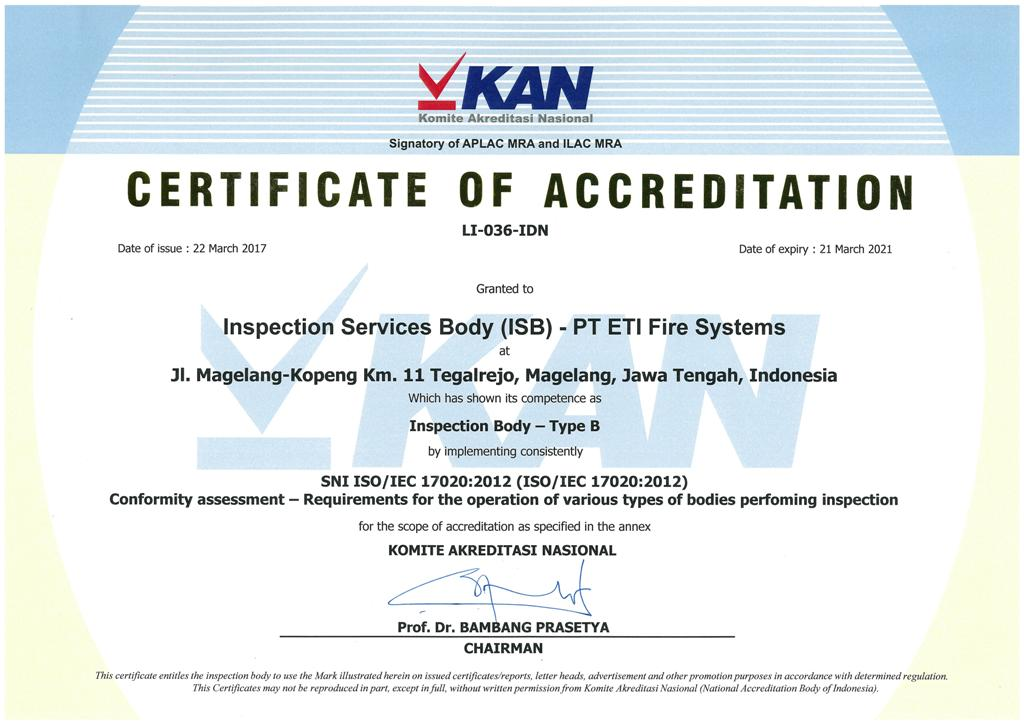INSPECTION SERVICES BODY ::.